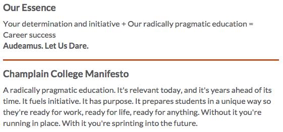 Champlain College Manifesto