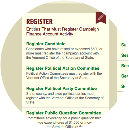 Campaign Finance Web Site