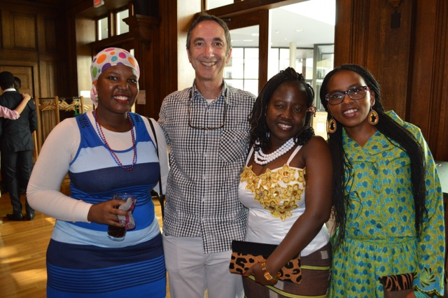 Rich Nadworny with Young African entrepreneurs.